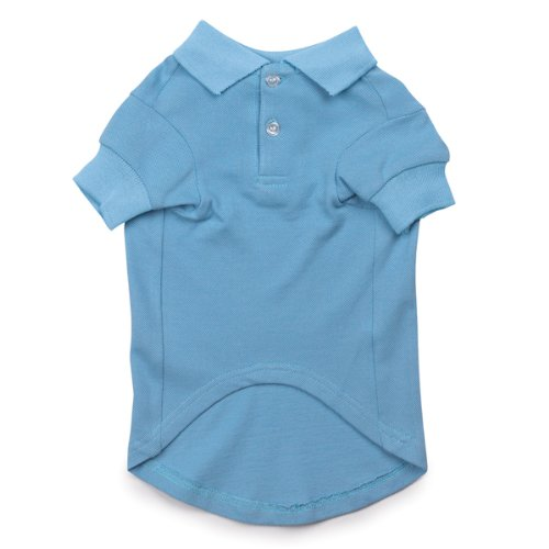 Casual Canine 12-Inch Cotton Basic Polo Dog Shirt, Small, Air Blue, My Pet Supplies