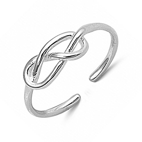 5mm Celtic Knot Wraparound Adjustable Toe Ring .925 Sterling Silver Womens (Celtic Toe Ring)