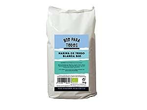 Bio para todos Harina Blanca de Espelta - 5 Paquetes de 1000 gr - Total: 5000 gr