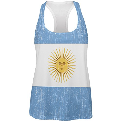 Old Glory World Cup Argentina Sun All Over Womens Tank Top - - Argentina Sun