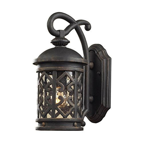 Alumbrada Collection Tuscany Coast 1 Light Outdoor Sconce In Weathered Charcoal ()