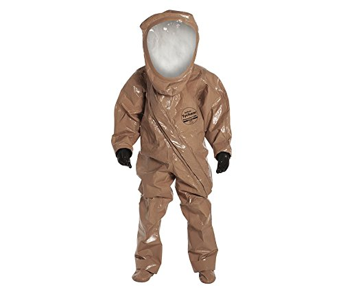 [DuPont Tychem Responder CSM Encapsulated Level A Hazmat Suit with Attached Butyl Gloves, Tan, XL,] (First Responders Costumes)