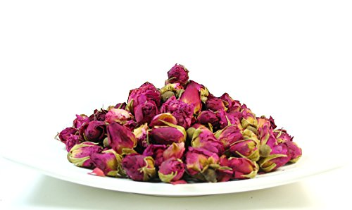 Dried Rose - Premium Dried Rose Buds Rosebud Flower Herb Loose Leaf Tea Fragrant Natural Healthy Herbal Tea 8 OZ
