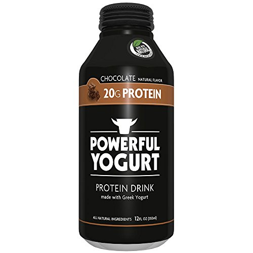 Powerful High Protein, Meal Replacement, Greek Yogurt Drink, Gluten-Free, Natural Ingredients, Kosher, 20g Protein, Chocolate (12 count)