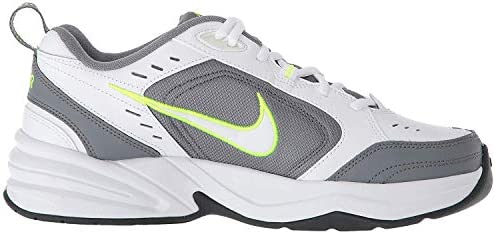 41p8UHSEsGL. AC Nike Men's Air Monarch IV Cross Trainer    Men's Nike Air Monarch IV Training Shoe sets you up for comfortable training with durable leather on top for support. A lightweight foam midsole with a full-length encapsulated Air-Sole unit cushions every stride in the Nike men's shoe. ImportedRubber soleShaft measures approximately low-top from archNIKE SHOES MEN: The Nike Air Monarch IV (4E) Training Shoe for Men sets you up for a comfortable training session with durable leather on top for support.DURABLE LEATHER: Men's sneakers are made with leather upper features for durability and support, while perforations provide airflow during every shoe wear.CUSHIONED COMFORT & DURABLE SUPPORT: A lightweight foam midsole with full-length encapsulated Air-Sole unit cushions every stride, providing all day comfort in your Nike shoes.