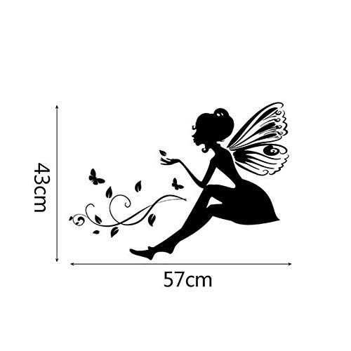 iLXHD New Flower Fairy DIY Little Angel Fairy Stickers Bedroom Living Room Walls Stickers - Cut Out Angels Wallpaper