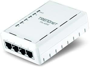 TRENDnet 4-Port 500 Mbps Powerline Ethernet AV Adapter, 4 x 10/100/1000Mbps Auto-MDIX Gigabit ports,TPL-405E