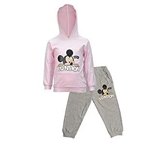CATCUB Kids Cotton Hooded Mickey Mouse Printed Clothing Set