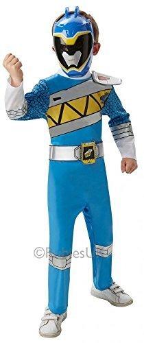 Kids Boys Girls Blue Power Ranger Super Hero Halloween Book Day Week Fancy Dress Costume Outfit (3-4 years, Blue) by Fancy (Blue Power Rangers Costume 3-4)