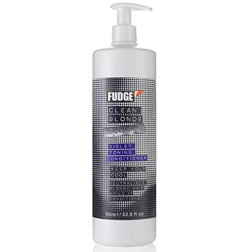 (Fudge Clean Blonde Violet Toning Shampoo for Unisex 33.8)