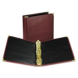 Classic Collection Ring Binder Portfolio, 11 x 8 1/2, 2\'\' Capacity, Burgundy, Sold as 1 Each