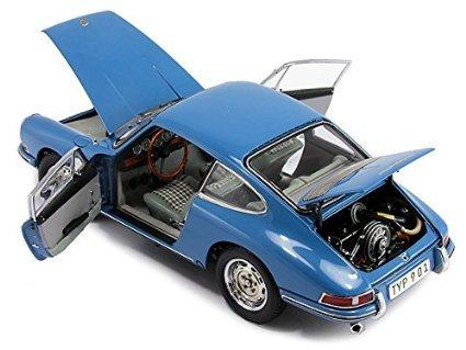 Porsche 901 (Serie), hellblau, Innenausstattung grau, 1964, Modellauto, Fertigmodell, CMC 1:18 by Porsche