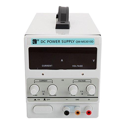 Z Ztdm Lab Home Dc Power Supply 30V 0 10A Us 110V Qw Ms3010d Stabilizer Variable Precision Adjustable Digital Dual Led Display W Alligator Clip Usa 3 Prong Plug Dc Power Connector