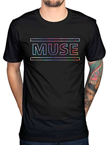 Muse Rock Band (AWDIP Men's Official Muse Logo T-Shirt Song Titles Spectrum Metal Hard Rock Band The 2nd Law)