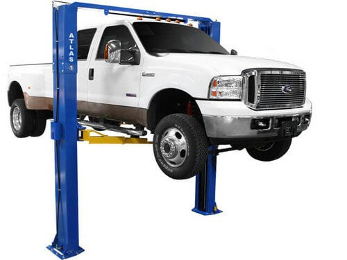 Atlas PV-10P Overhead 10,000 lbs. Capacity Adjustable Height 2 Post Above Ground Lift (Best Home Car Lift)