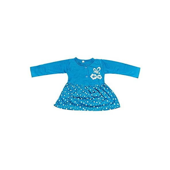 babeezworld Regular Daily Wear Baby Girl's Cotton Full Sleeves Frock Dress (5011296003056-$P)