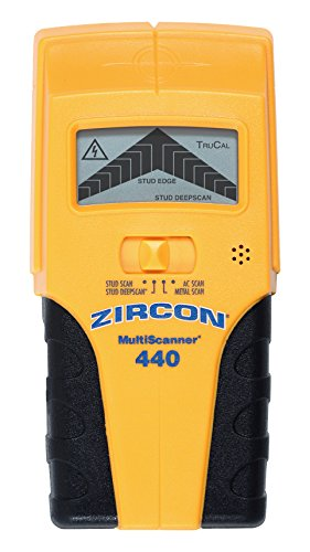 Zircon MS 440 Multi Scanner Edge-Finding Stud Finder with Metal Detection, Live AC Wire Tracing and easy to read LCD Screen