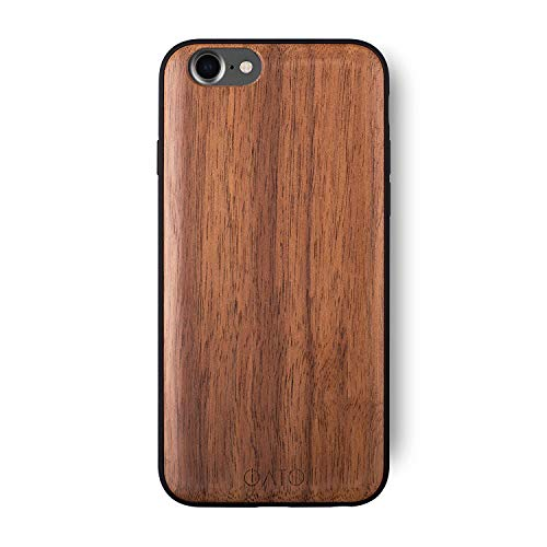 Wooden Case - iATO iPhone 7/8 Wooden Case - Real Walnut Wood Grain Premium Protective Shockproof Slim Back Cover - Unique, Stylish & Classy Snap on Thin Bumper Accessory Designed for iPhone 7 / iPhone 8
