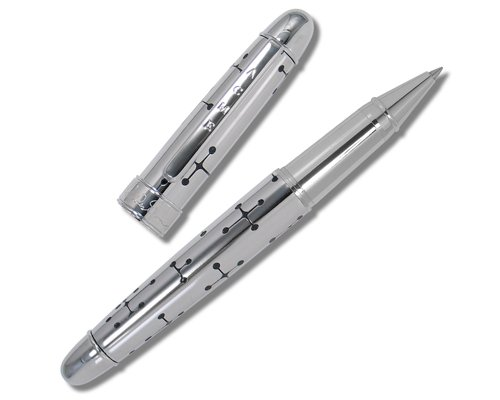 ACME Studios Etched Rollerball Pen Dots, Silver/Black (PE11/R)