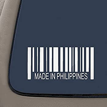 H X 5.75 W with Philippine Sun /& Stars Filipino Vinyl Car Decal Sticker  5