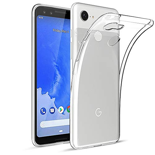 HiZiTi Google Pixel 3 Case, Thin Ultra-Slim Fit Crystal Clear Transparent Flexible TPU Phone Case Cover Compatible for Google Pixel 3 - Transparent Clear ()