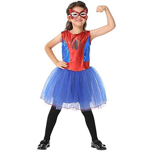 Ytwysj Toddler Baby Kid Girl Halloween Costumes Sleeveless Spider Tutu Dress Halloween Princess Party Sundress ()