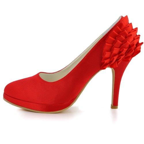 Talon Femmes Chaussures Amande De Satin Mariée En Main Des Mariage Talon Soirée De Partie De Minitoo Rouges Plissée Haut En Pompes D'honneur Bout Demoiselle Gymz725 Aiguille gHEnqX