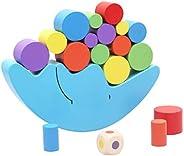 Wooden Stacking Blocks Balancing Game,Moon Equilibrium Game,Sorting Toy Balancing Moon Toy for Kids, Babies, G