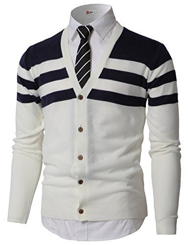 H2H Mens Fashion Slim Fit Button Front Long Sleeve Shawl Collar Pullover Cardigan Navy US XL/Asia 2XL (KMOCAL0184)