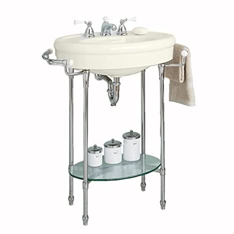 Linen 0283008.222 American Standard 0283.008.222 Standard Collection Pedestal Sink Top with 8-Inch Faucet Spacing