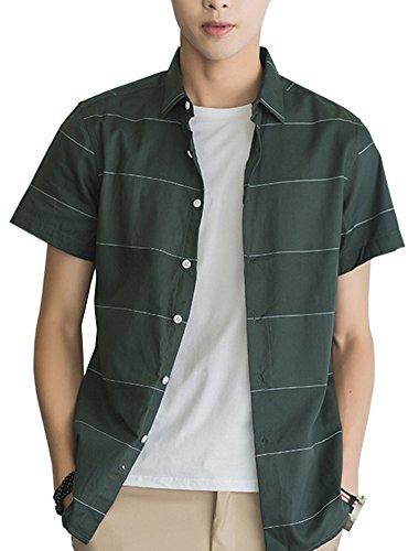行動慣性グループIKRR メンズ シャツ カジュアル ワイシャツ 長袖シャツ メンズ ストライプ ビジネス ボタンダウン