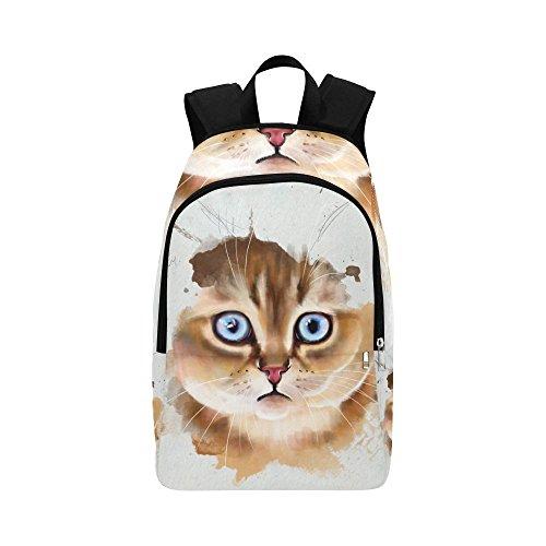 Kitten Sprayer (InterestPrint Animal kitten Casual Backpack Travel Bag School Backpacks)