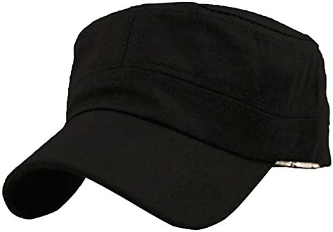 Vivoice Cadet Army Cap - Unisex Flat Top Hat Cotton Corps Hat With  Adjustable Strap 906bbd2c1aee