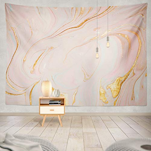 Soopat Tapestry Polyester Fabric Fantasy Marble Texture Romantic Background in Pastel Colors Digital Art Oriental Pattern Wall Hanging Tapestry Decorations Bedroom Living Room Dorm 80X60 Inch ()