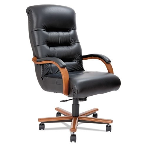 la-z-boy-921235-horizon-collection-executive-high-back-chair-black-leather-natural-cherry