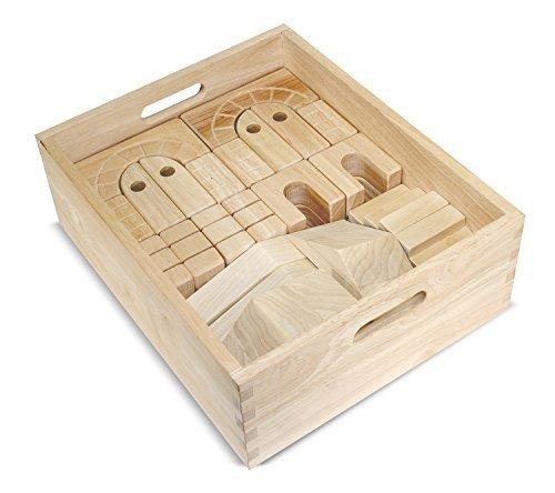 海外並行輸入正規品 Melissa & [並行輸入品] Doug Architectural Wooden (44 Unit Block Set With Melissa Storage Crate (44 pcs) [並行輸入品] B078CYQ3YL, 【史上最も激安】:dbefb228 --- a0267596.xsph.ru