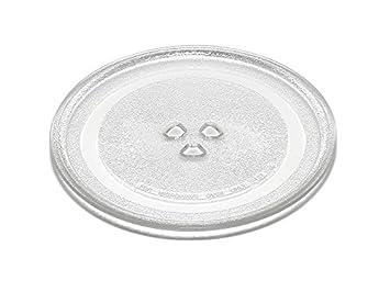 Plato de cristal de 24,5 cm para hornos microondas DeLonghi MW380 MW480 MW485 MW495
