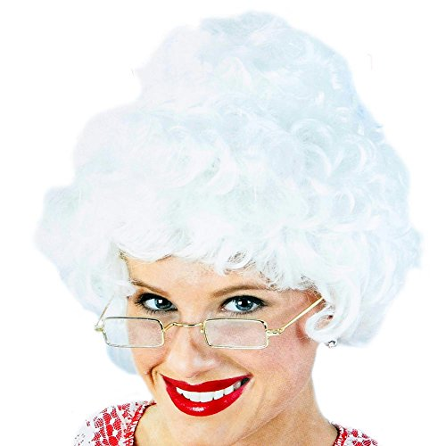 Mrs Claus Wig (Fun World Women's Santa Wig Rvb, Multi, One)