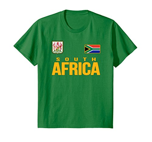 fan products of Kids South Africa T-shirt South African Soccer Jersey Style 10 Kelly Green
