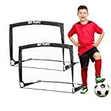 NET PLAYZ 4ftx3ft Easy Fold-Up Portable Training Soccer Goal, Set of 2