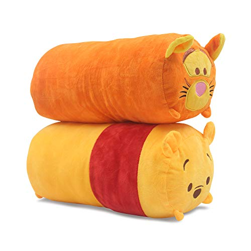 Finex - Set of 2 - Winnie The Pooh and Tigger Plush Pillow Stackable Long Cushion