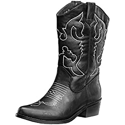 SheSole Women's Western Cowgirl Cowboy Boots Black Size 9.5