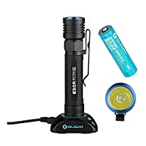 Olight® S30R Baton III 1050 Lumens LED USB Rechargeable Flashlight CREE XM-L2 LED Side-Switch Torch Light with 3500mAh 18650 Battery and Charging Dock