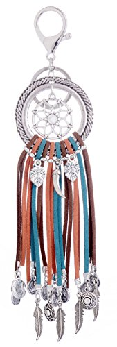 Giftale Handbag Vintage Dream Catcher Charms Backpacks Retro Key Ring Purse Indian Keychain,#9042