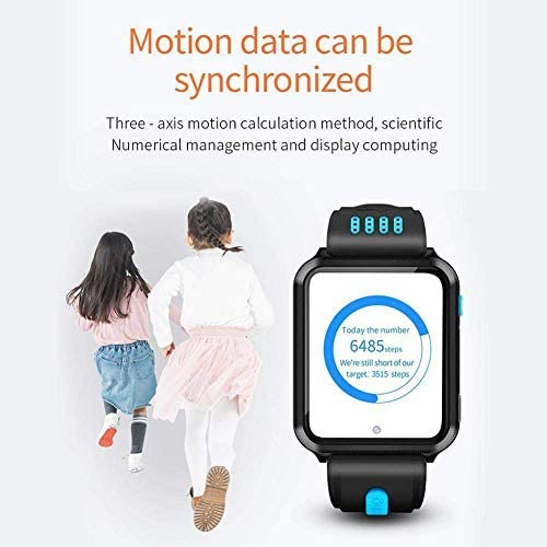 Smart Watches for Kids, GPS LBS Tracker 4G Phone Watch with Dual Camera/SIM Card Slot for Call/Message/WeChat Video Voice Chat/Game/WiFi 41p8buoaSJL