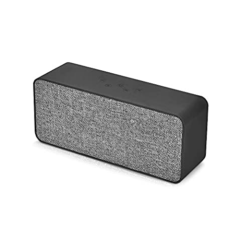 NUOXI V6 Cloth V4.1 Bluetooth Speakers Portable Wireless Outdoor Subwoofer with Surrond Stero Bass Super Loud Sound for Home,TV,Car,DJ,Iphone,Android,PC with Radio,Mircophone,TF Cards,AUX - Expandable Dj System