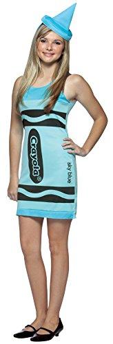 Crayola Crayon Tank - Crayola Crayon Tank Dress Teen/Junior Costume Sky Blue - Teen