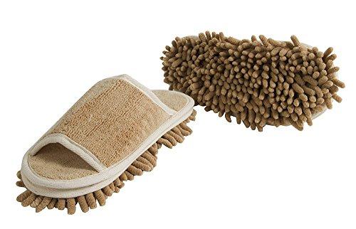Slipper Genie Microfibra de zapatillas de mujer para limpieza de suelos, zapatillas de casa de mujer, limpiador, herramienta...