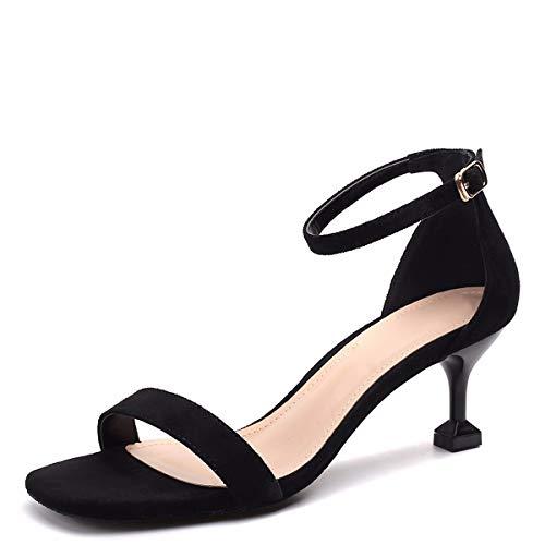 Sandales six Black Verres Vin 6cm Talons Word Kphy La Chaussures thirty Et Kittens Filles Mode qI6xHfOw