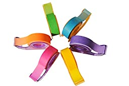 Homestic Removeable Highlighter Tape 0.6-inch x 393-inch, Fluorescent Colors (6 Colors with Dispenser)